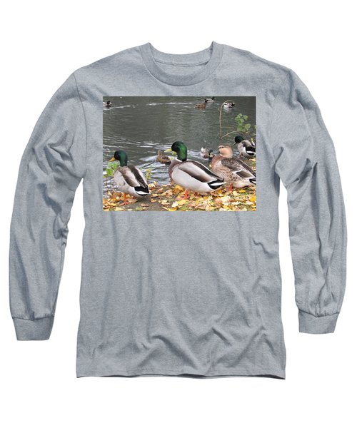 Ducks By The Pond Long Sleeve T-Shirt