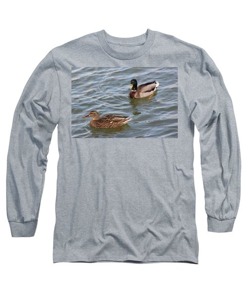 Ducks By The River Long Sleeve T-Shirt