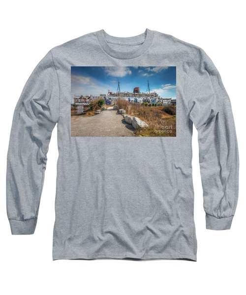 Long Sleeve T-Shirt featuring the photograph Duke Of Lancaster Graffiti by Adrian Evans