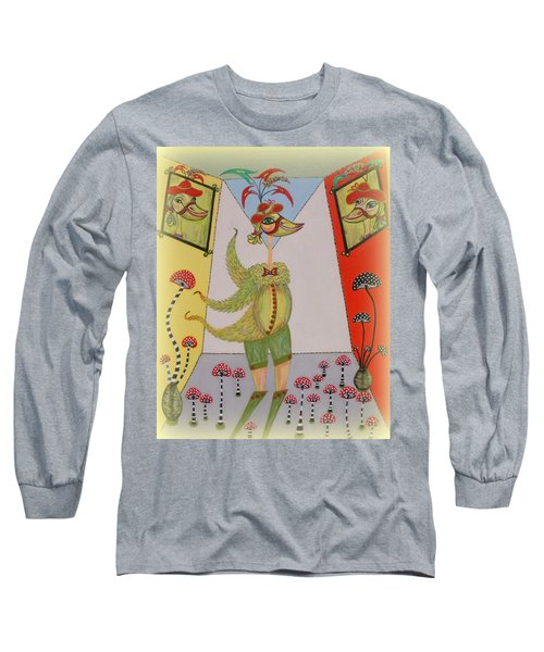 Long Sleeve T-Shirt featuring the painting Duke's Adventure by Marie Schwarzer
