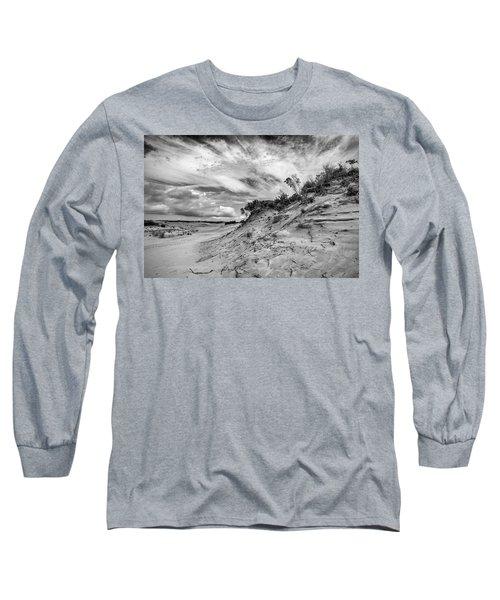 Long Sleeve T-Shirt featuring the photograph Dune Sky by Alan Raasch