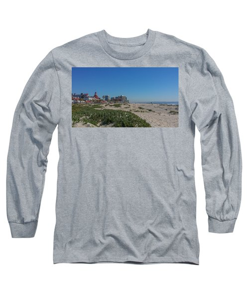 Dunes At The Del Long Sleeve T-Shirt by Mark Barclay