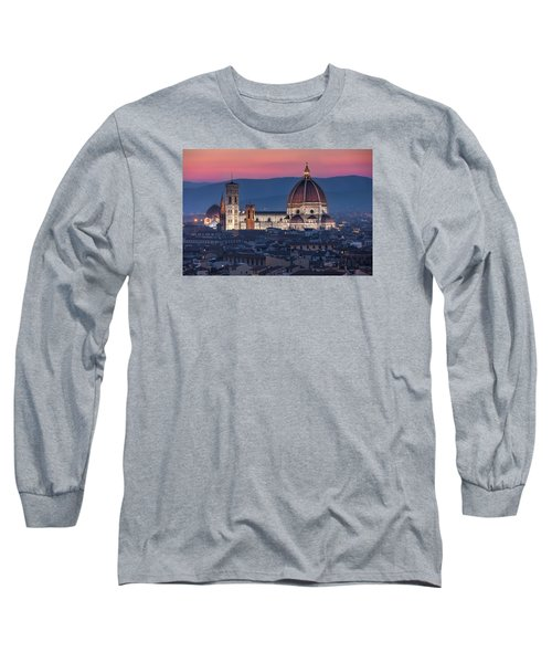 Long Sleeve T-Shirt featuring the photograph Duomo Di Firenze by Brent Durken