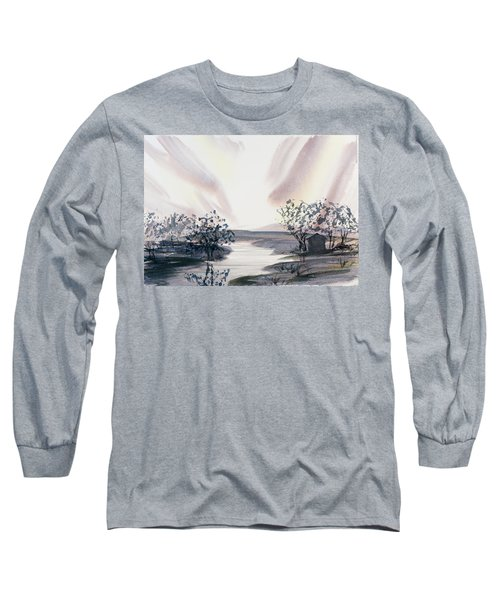 Dusk Creeping Up The River Long Sleeve T-Shirt