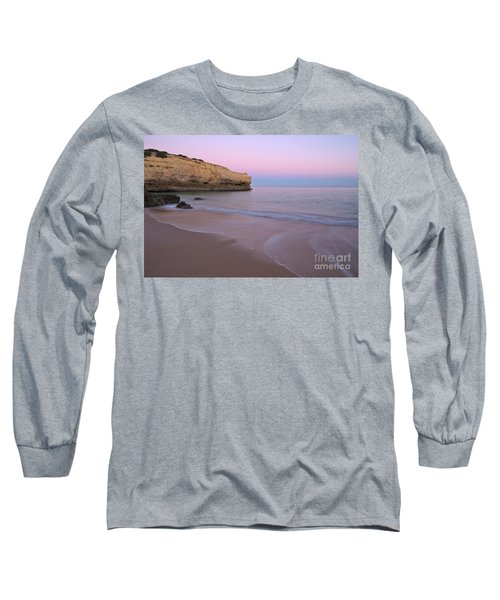 Dusk In Albandeira Beach Long Sleeve T-Shirt by Angelo DeVal