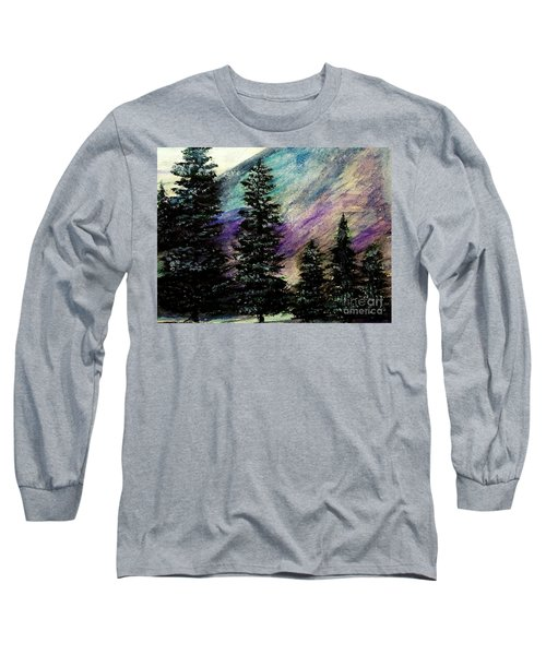 Dusk On Purple Mountain Long Sleeve T-Shirt by Scott D Van Osdol