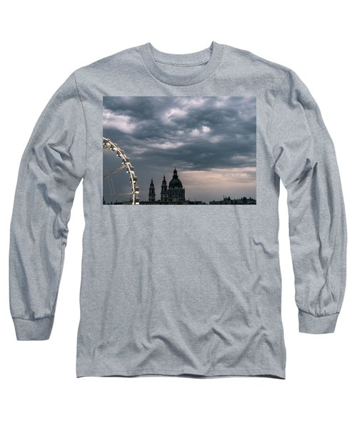 Long Sleeve T-Shirt featuring the photograph Dusk Over Budapest by Alex Lapidus