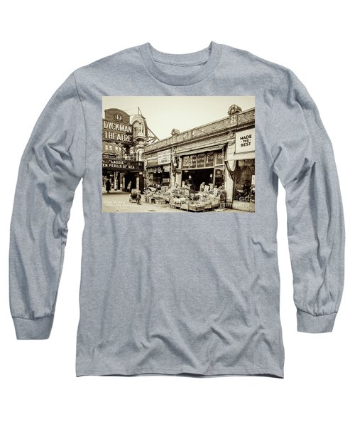 Long Sleeve T-Shirt featuring the photograph Dyckman Theater, 1926 by Cole Thompson
