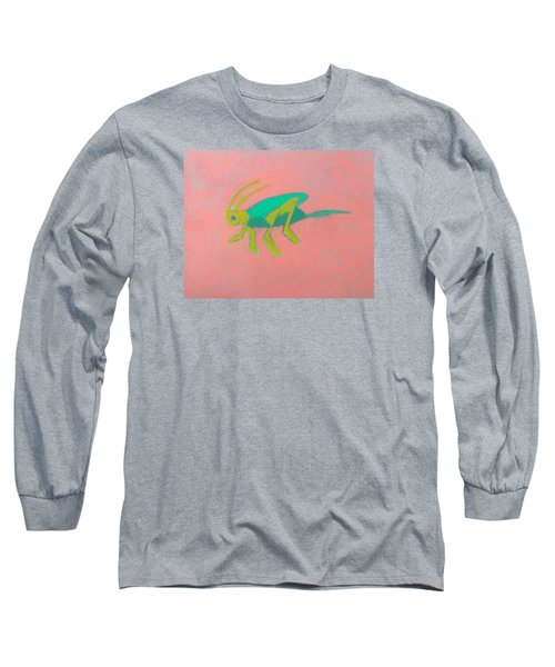 Eager Grasshopper Long Sleeve T-Shirt by Artists With Autism Inc