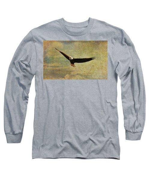 Eagle Medicine Long Sleeve T-Shirt by Deborah Benoit