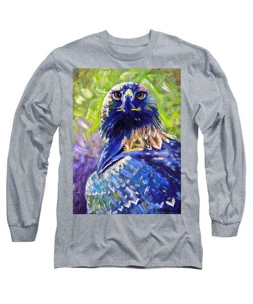 Eagle On Alert Long Sleeve T-Shirt