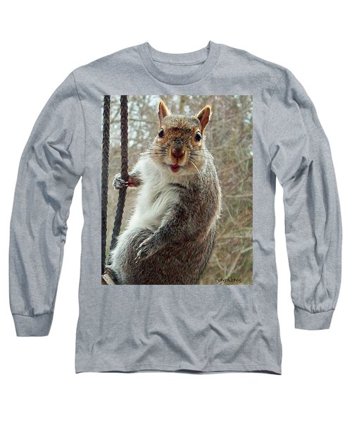 Earl The Squirrel Long Sleeve T-Shirt