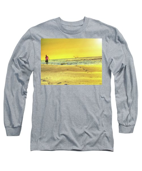 Early Morning Beach Walk Long Sleeve T-Shirt