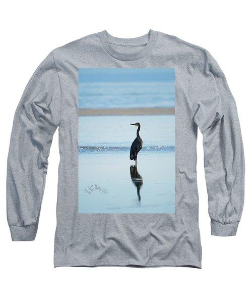 Early Morning Heron Long Sleeve T-Shirt