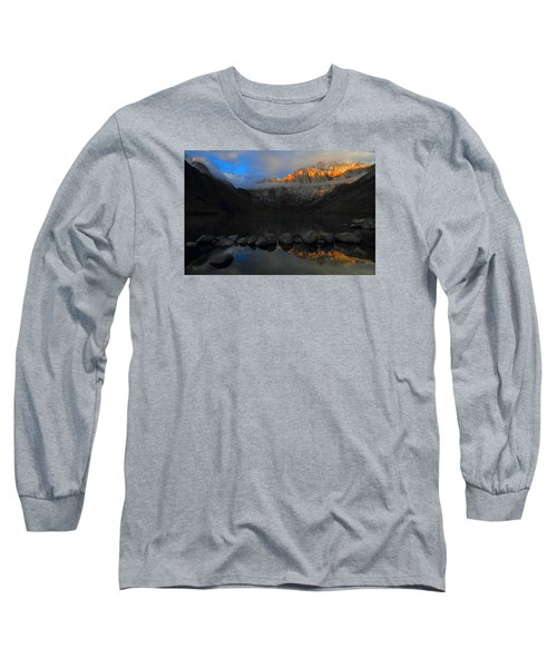 Early Morning Light At Convict Lake In The Eastern Sierras Long Sleeve T-Shirt