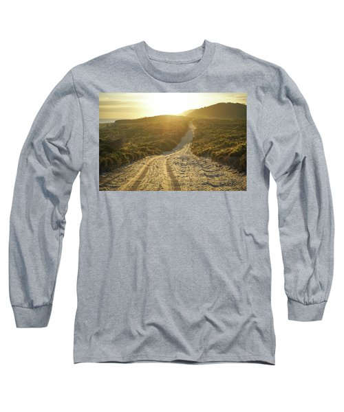 Early Morning Light On 4wd Sand Track Long Sleeve T-Shirt