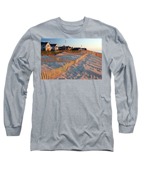 Early Morning On The Shore Long Sleeve T-Shirt by James Kirkikis