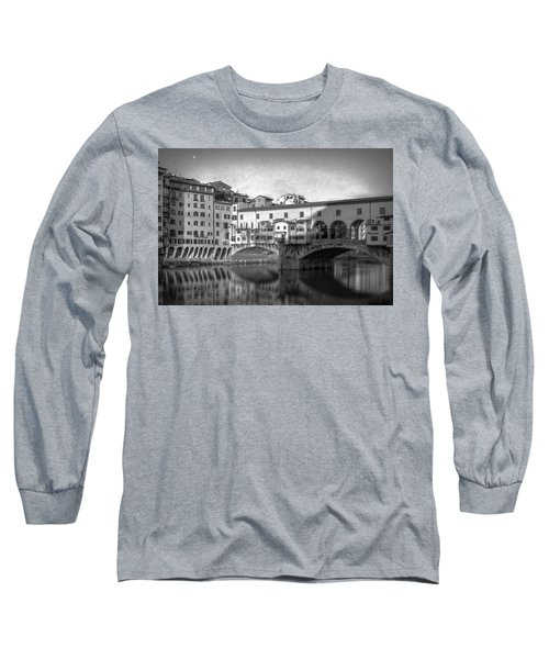 Long Sleeve T-Shirt featuring the photograph Early Morning Ponte Vecchio Florence Italy by Joan Carroll