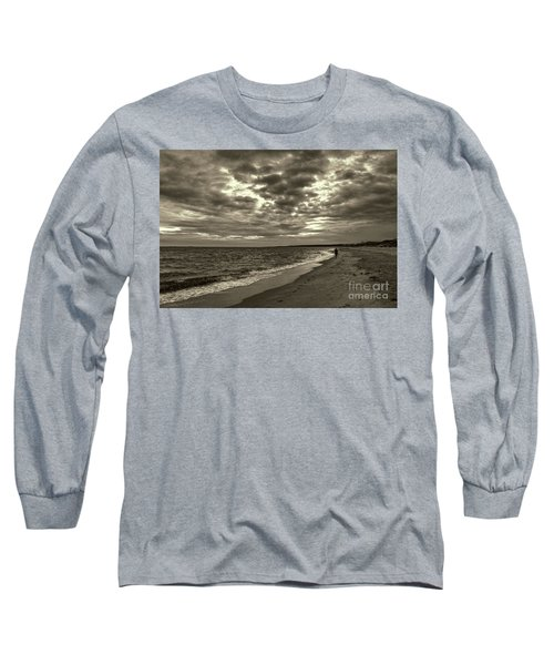 Early Morning Walk On Virginia Beach Long Sleeve T-Shirt