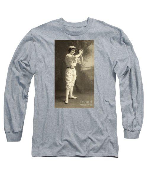 Early Portrait Of A Woman Baseball Player Long Sleeve T-Shirt
