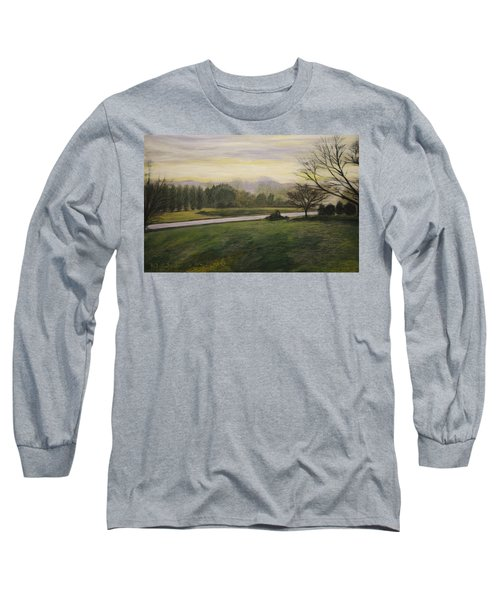 Early Spring On Ernie Lane Long Sleeve T-Shirt by Ron Richard Baviello