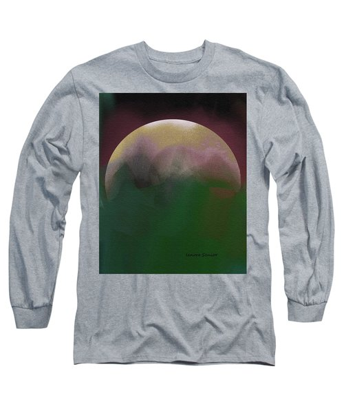 Earth And Moon Long Sleeve T-Shirt by Lenore Senior