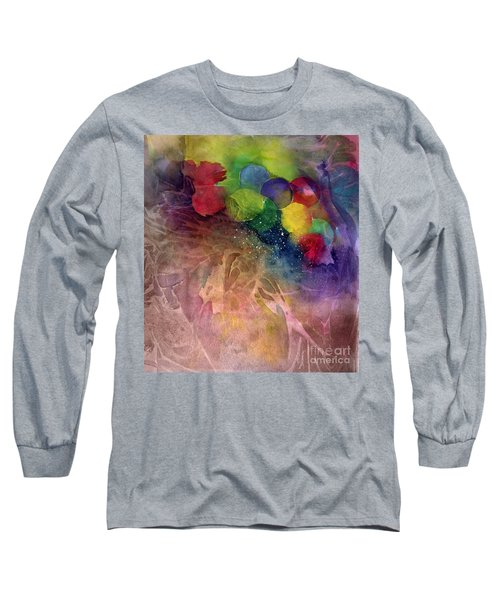 Long Sleeve T-Shirt featuring the painting Earth Emerging by Allison Ashton