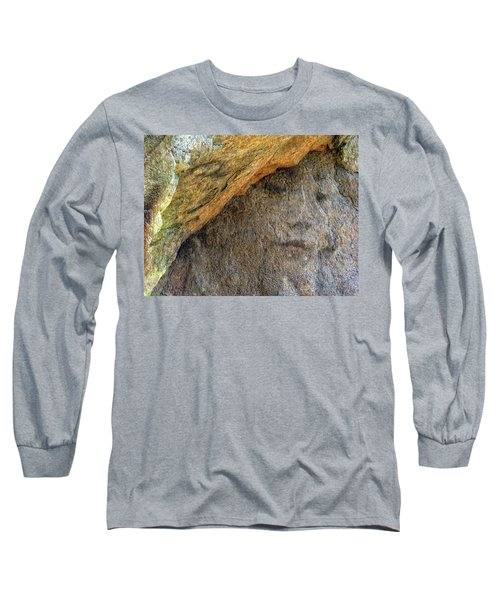 Long Sleeve T-Shirt featuring the photograph Earth Memories-stone # 4 by Ed Hall
