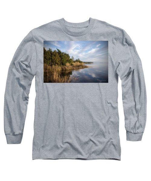 East Bank Looking South At Sunset Long Sleeve T-Shirt by Phil Mancuso