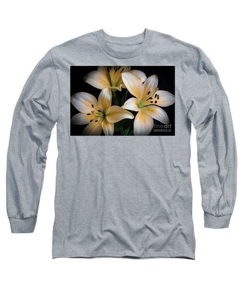 Easter Lilies  Long Sleeve T-Shirt by Deborah Klubertanz