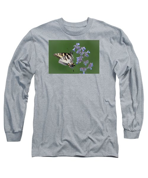 Eastern Tiger Swallowtail Profile Long Sleeve T-Shirt by Patti Deters