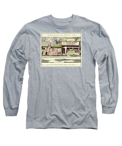 Long Sleeve T-Shirt featuring the painting Eastside Market by Chholing Taha