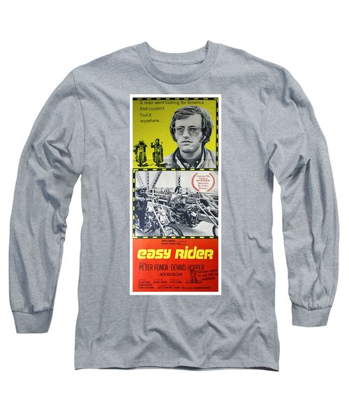 Easy Rider Movie Lobby Poster  1969 Long Sleeve T-Shirt by Daniel Hagerman
