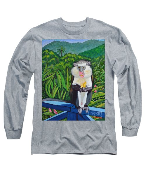 Eating A Banana Long Sleeve T-Shirt by Laura Forde