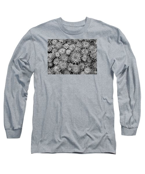Echeveria Monochrome Long Sleeve T-Shirt
