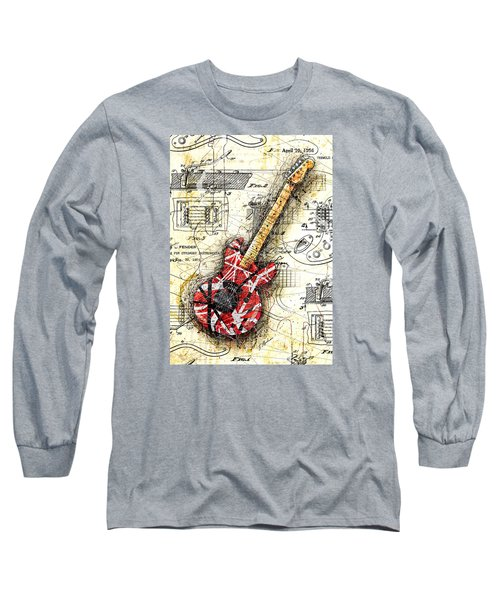 Eddie's Guitar II Long Sleeve T-Shirt by Gary Bodnar