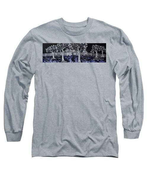 Long Sleeve T-Shirt featuring the painting Eden Gate. by Kenneth Clarke