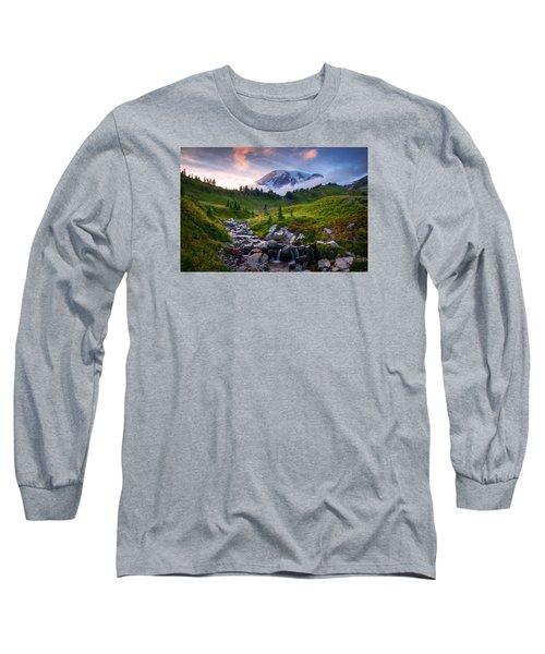 Long Sleeve T-Shirt featuring the photograph Edith Creek Sunset by Dan Mihai