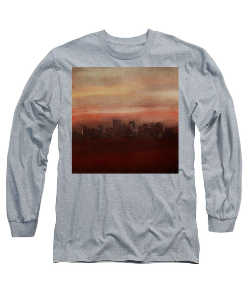 Edmonton At Sunset Long Sleeve T-Shirt