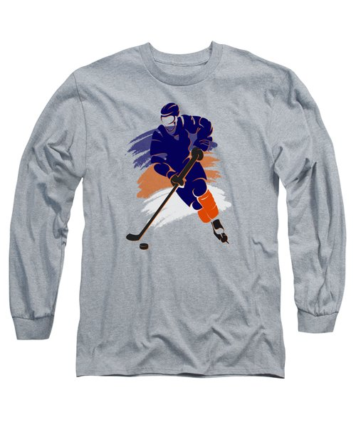 Edmonton Oilers Player Shirt Long Sleeve T-Shirt by Joe Hamilton