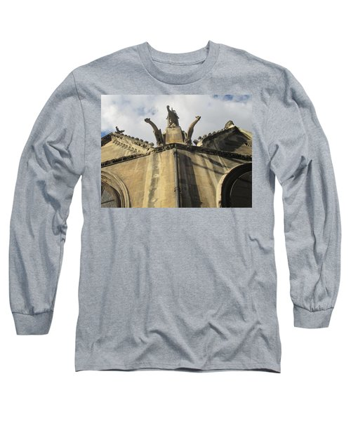 Long Sleeve T-Shirt featuring the photograph Eglise Saint-severin, Paris by Christopher Kirby