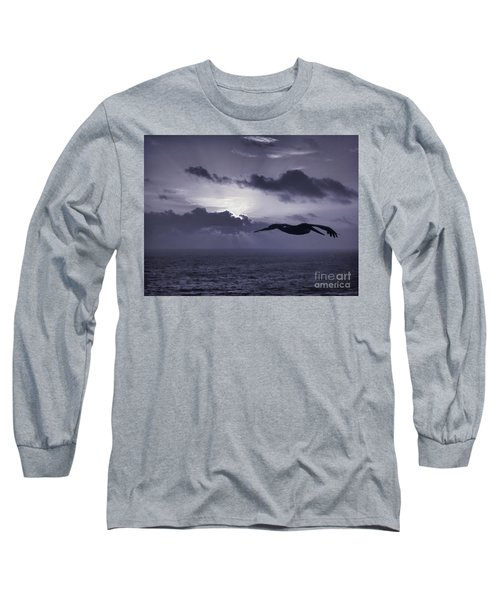 Pelican At Sunrise Long Sleeve T-Shirt