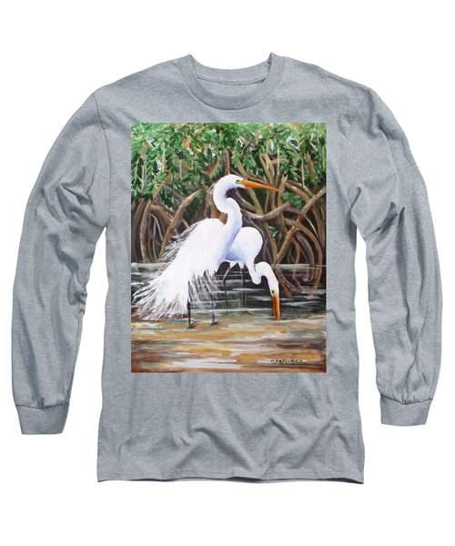 Egrets And Mangroves Long Sleeve T-Shirt