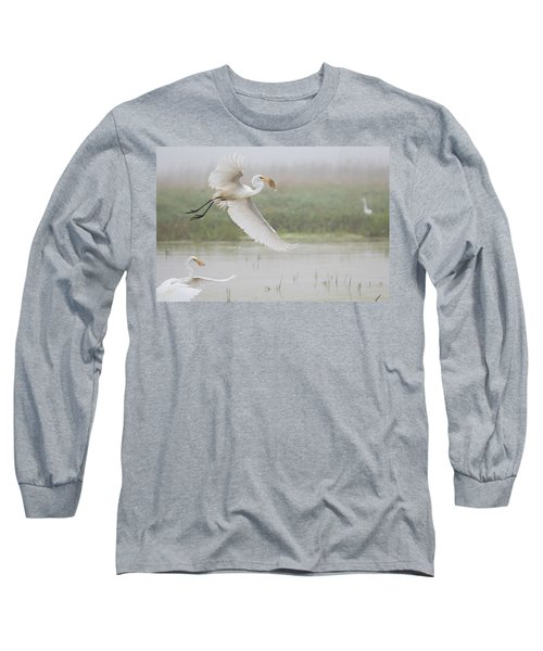 Egrets Fish Long Sleeve T-Shirt