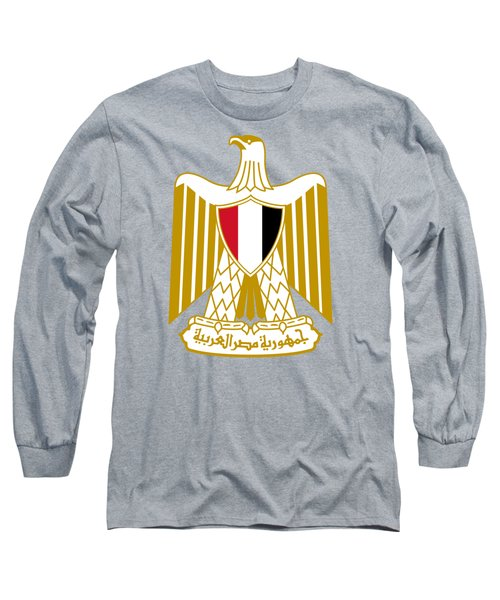 Egypt Coat Of Arms Long Sleeve T-Shirt by Movie Poster Prints