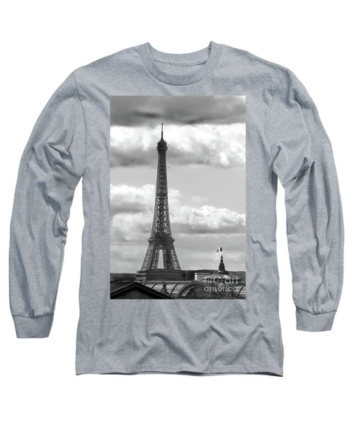 Eiffel Tower From Galeries Lafayette Rooftop Long Sleeve T-Shirt