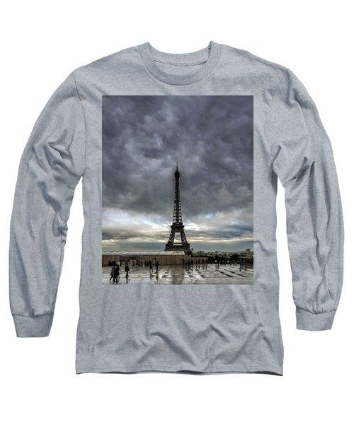 Long Sleeve T-Shirt featuring the photograph Eiffel Tower Paris by Sally Ross