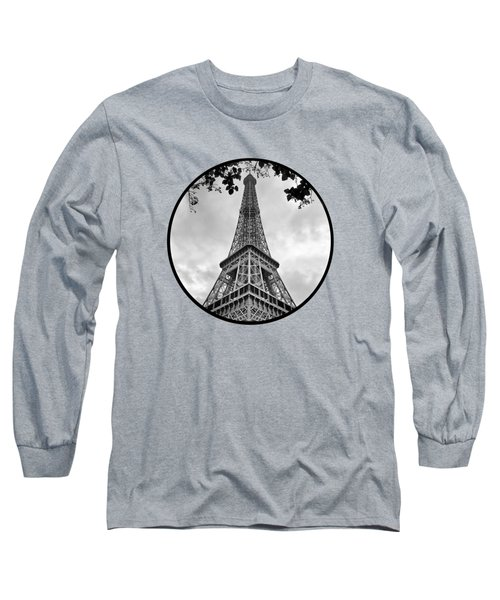 Long Sleeve T-Shirt featuring the photograph Eiffel Tower - Transparent by Nikolyn McDonald