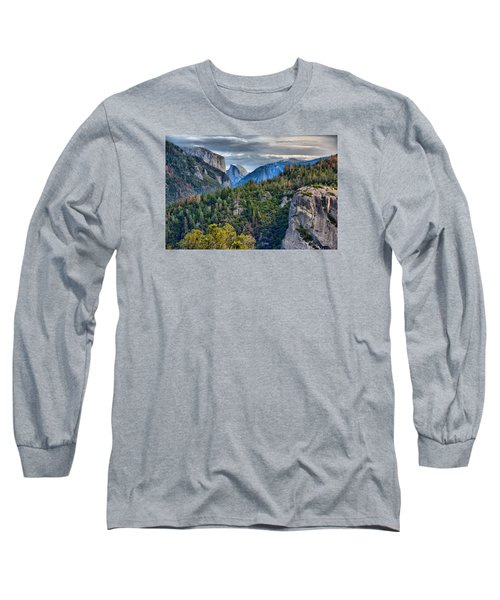 El Capitan And Half Dome Long Sleeve T-Shirt by Josephine Buschman