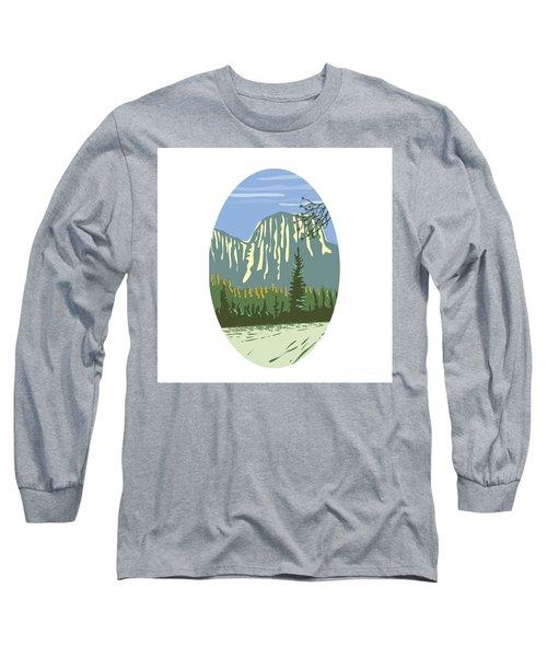 El Capitan Granite Monolith Oval Wpa Long Sleeve T-Shirt